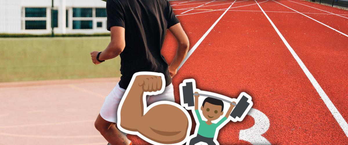 footballers jog